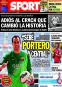 Portada diario Sport del 8 de Julio de 2014