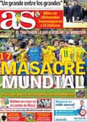 Portada diario AS del 9 de Julio de 2014