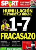 Portada diario Sport del 9 de Julio de 2014