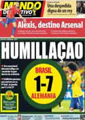 Portada Mundo Deportivo del 9 de Julio de 2014
