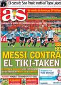 Portada diario AS del 10 de Julio de 2014
