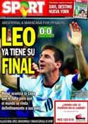 Portada diario Sport del 10 de Julio de 2014
