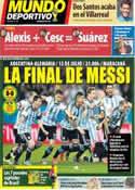 Portada Mundo Deportivo del 10 de Julio de 2014
