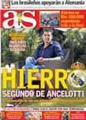 Portada diario AS del 11 de Julio de 2014