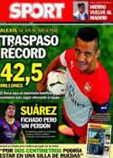 Portada diario Sport del 11 de Julio de 2014