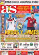 Portada diario AS del 12 de Julio de 2014
