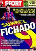 Portada diario Sport del 12 de Julio de 2014