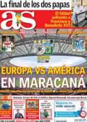 Portada diario AS del 13 de Julio de 2014