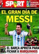 Portada diario Sport del 13 de Julio de 2014