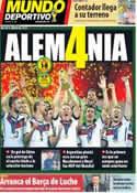 Portada Mundo Deportivo del 14 de Julio de 2014