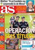 Portada diario AS del 15 de Julio de 2014