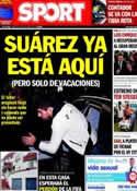 Portada diario Sport del 15 de Julio de 2014