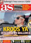 Portada diario AS del 16 de Julio de 2014