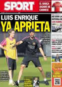Portada diario Sport del 16 de Julio de 2014