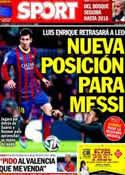 Portada diario Sport del 18 de Julio de 2014
