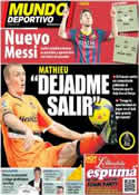 Portada Mundo Deportivo del 18 de Julio de 2014