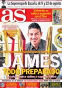 Portada diario AS del 19 de Julio de 2014