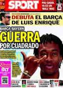 Portada diario Sport del 19 de Julio de 2014