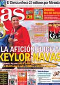 Portada diario AS del 20 de Julio de 2014
