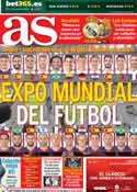 Portada diario AS del 25 de Octubre de 2014