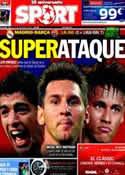 Portada diario Sport del 25 de Octubre de 2014