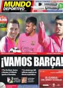 Portada Mundo Deportivo del 25 de Octubre de 2014