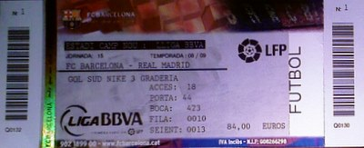 Entradas partido F.C. Barcelona vs. Real Madrid